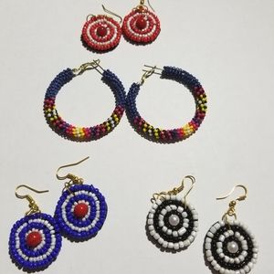 Sassy Jones Sherrie Hoops w/3 free pairs earrings